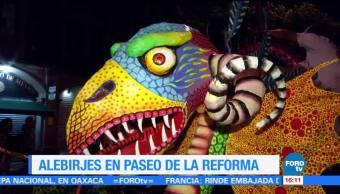 Más de 180 alebrijes desfilan por las calles de la CDMX