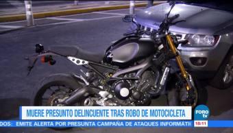 Delincuente muere tras robo de motocicleta en la CDMX