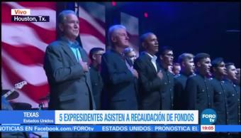 Expresidentes de EU se reúnen en concierto a beneficio de damnificados por huracanes