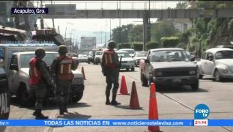 Autoridades de Guerrero combaten inseguridad mediante operativos