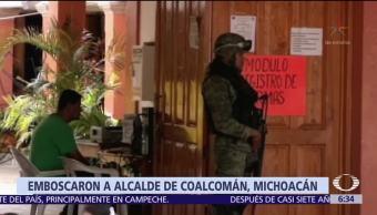 Alcalde de Coalcomán, Michoacán, sobrevive a ataque armado