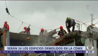 Mancera confirma que 24 edificios serán demolidos en CDMX tras sismo