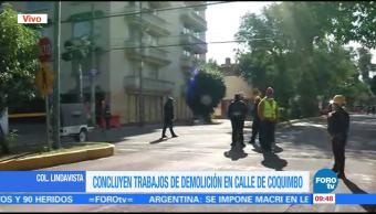 Concluyen trabajos de demolición en Lindavista