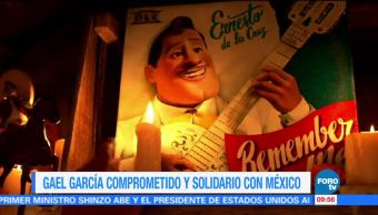 #LoEspectaculardeME: Gael García comprometido y solidario con México