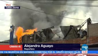 Incendia Inmueble Tultitlán Estado México