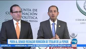 Piden al Senado rechazar remoción de titular de la Fepade
