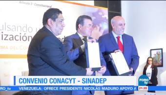 Conacyt y Sinadep firman convenio pro de la docencia en México
