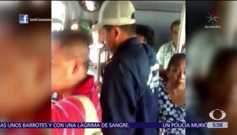 Captan a acosador de mujer en transporte público de Morelos
