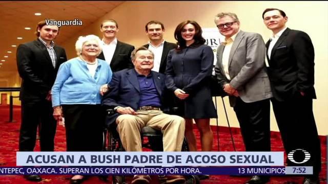 Actriz acusa a George Bush padre de tocarla inapropiadamente