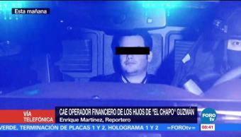 Cae operador financiero de los hijos de 'El Chapo' Guzmán