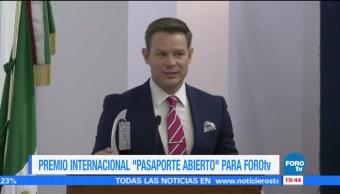 FOROtv recibe premio internacional de periodismo turístico 'Pasaporte Abierto'
