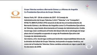 Cambios de directivos en Grupo Televisa