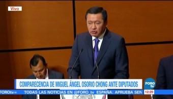 Osorio Chong comparece ante diputados por glosa del Informe de Gobierno