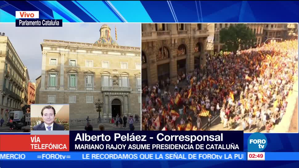 Oficializan destitución del Gobierno de Cataluña