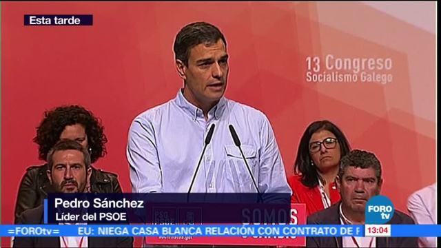 Líder del PSOE pide hacer análisis para lograr reconciliación en España