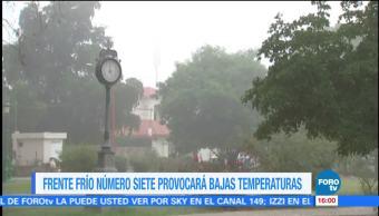 Frente frío provocará bajas temperaturas en la mayor parte del país