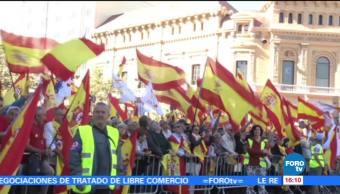 Rajoy respalda manifestación en Barcelona a favor de la unidad de España
