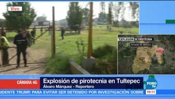 Un muerto por explosión de pirotecnia en Tultepec, Edomex