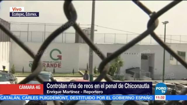 Se retiran policías estatales desplegados al interior del penal de Chiconautla, Edomex