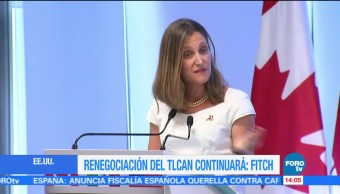 Fitch Ratings y Chrystia Freeland hablan del TLCAN