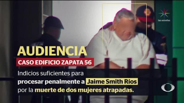 Vinculan a proceso a ingeniero de edificio de Zapata 56