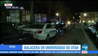 Reportan tiroteo cerca de la Universidad de Utah