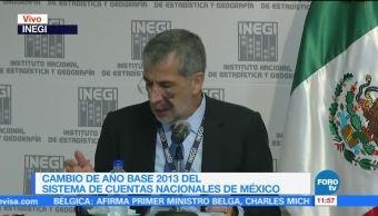 INEGI cambia el año base del sistema de cuentas nacionales