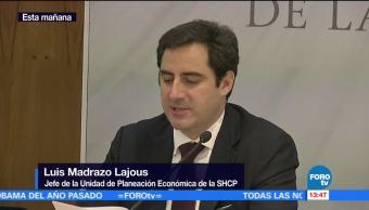 Ingresos tributarios crecen 1.8% real anual: Luis Madrazo