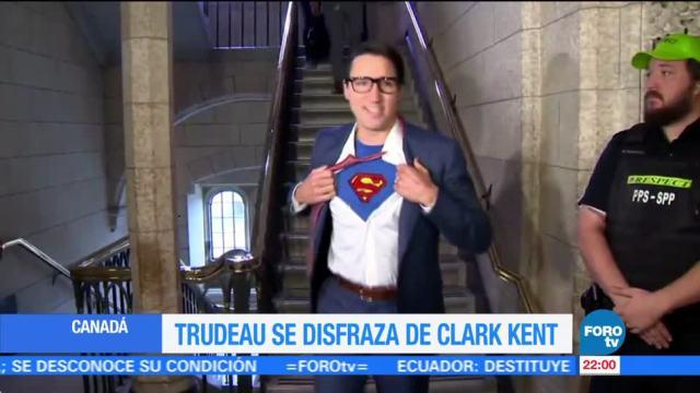 Trudeau sorprende con disfraz de Superman