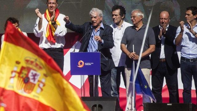 Vargas Llosa: la conjura independentista no destruirá la unidad de España