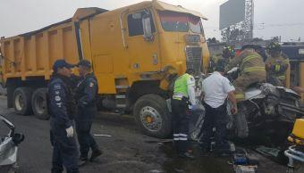 Se registra accidente automovilístico en autopista México-Puebla