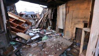destruyen campamento vivian 250 familias iztapalapa