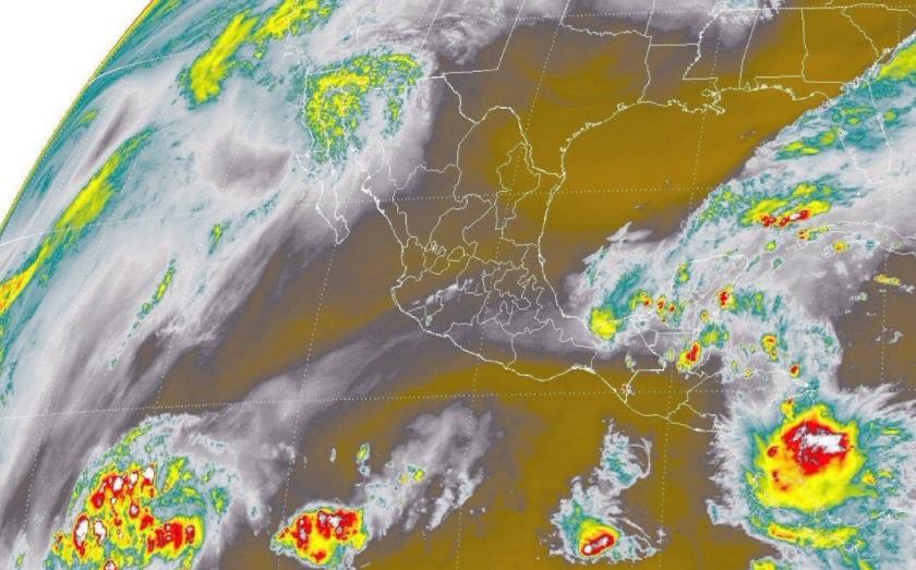 Tormentas puntuales en Tabasco y Chiapas e intensas en Oaxaca