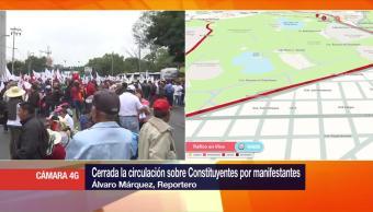 Campesinos bloquean Constituyentes en demanda de más recursos