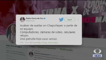 Candidato Independiente Pedro Ferriz Denuncia Asalto