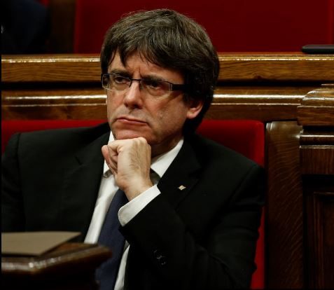 El destituido líder de Cataluña, Carles Puigdemont,