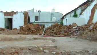 Casas afectadas por sismo 7 de septiembre en Chiapas
