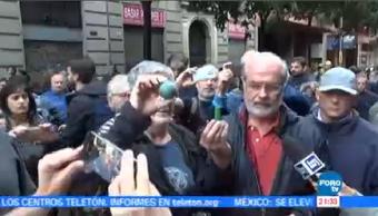 Catalanes Denuncian Uso Balas Goma Referendo