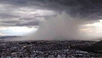 frente frio afecta con frio, lluvia y viento a chihuahua