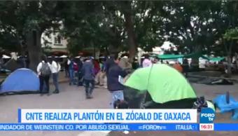 Cnte Instala Zócalo Oaxaca Integrantes Plantón