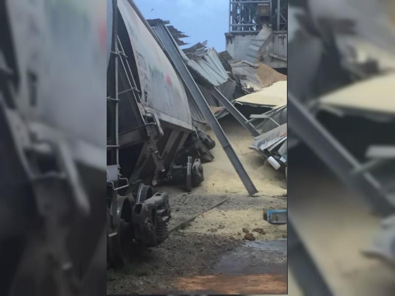 Colapsa bodega de graneles en zona portuaria de Veracruz