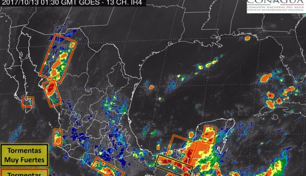smn preve tormentas nocturnas fuertes intensas 16 estados