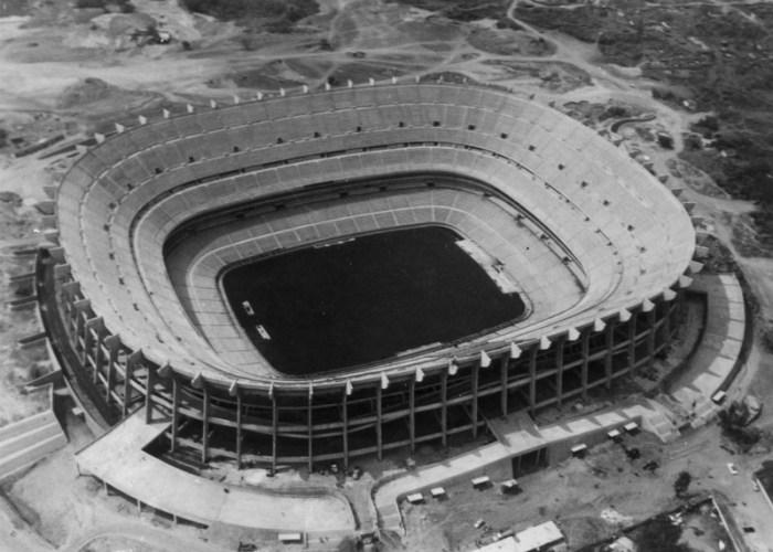 Construcción del Estadio Azteca