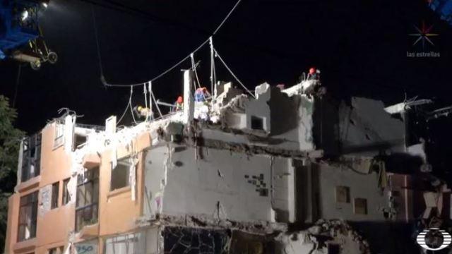 Continúan los trabajos de demolición en el edificio de Concepción Béistegui
