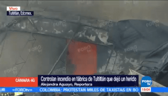 Controlan Incendio Tultitlán Herido Bomberos Personal Emergencia