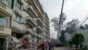 Edificio afectado por sismo en la colonia Lindavista (Notimex/Archivo)