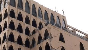 Trabajos de demolición del edificio afectado en Génova 33 tras sismo