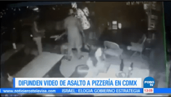 Difunden Video Asalto Pizzería Cdmx
