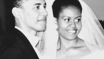 Michelle y Barack en su boda