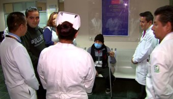 Durante sismo, médicos de la Raza trasplantan riñón a joven yse recupera